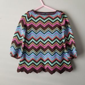 Gap Toddler Sweater Zigzag Dress 18-24 mths